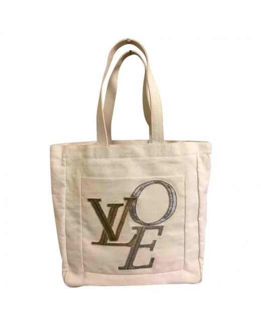 Louis Vuitton - Natural Pre-owned Cloth Bag - Lyst