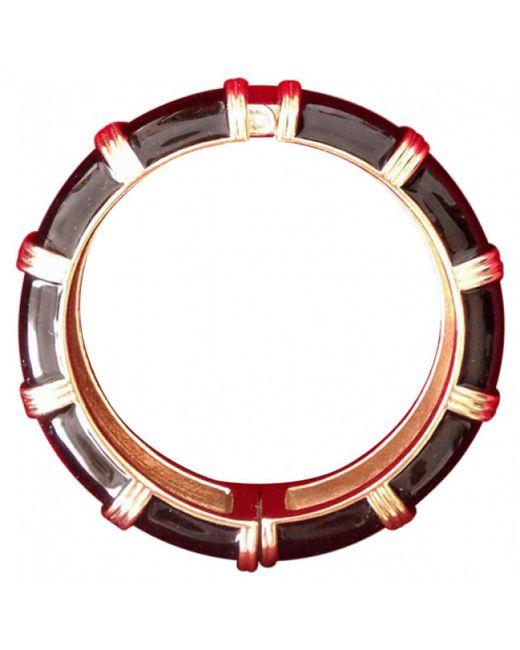 Ferragamo - Metallic Black Metal Bracelet - Lyst