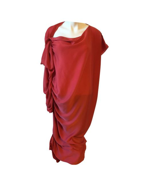 Lanvin - Red Other Polyester Dress - Lyst