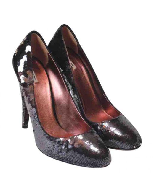 Miu Miu - Black Pre-owned Glitter Heels - Lyst