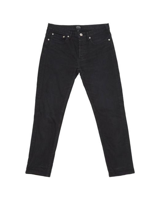 A.P.C. - Pre-owned Black Cotton Jeans - Lyst