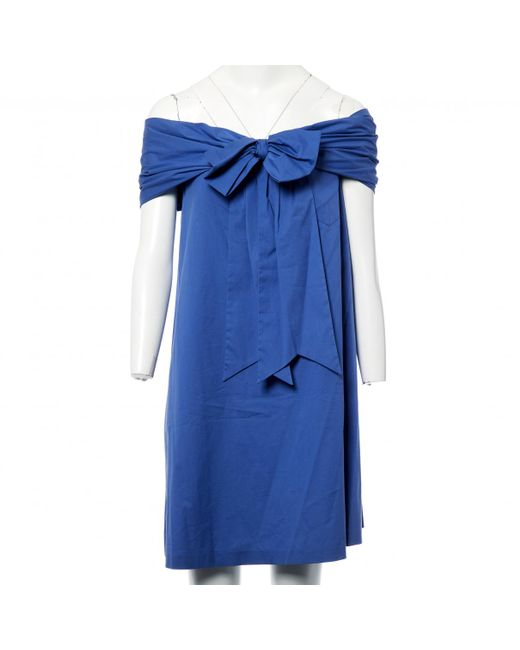 Jean Paul Gaultier - Blue Pre-owned Bustier Dress - Lyst
