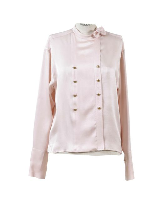 Chanel - Pink Silk Blouse - Lyst