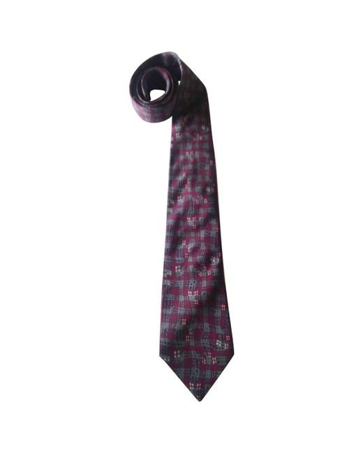 Dior - Purple Pre-owned Silk Tie for Men - Lyst
