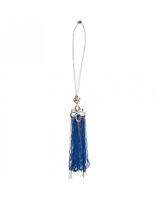 Chanel - Blue Silver Necklace - Lyst