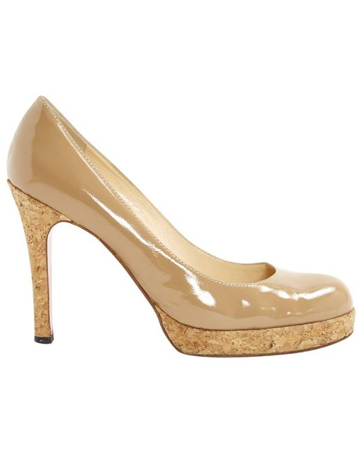 Christian Louboutin - Natural Pre-owned Simple Pump Patent Leather Heels - Lyst