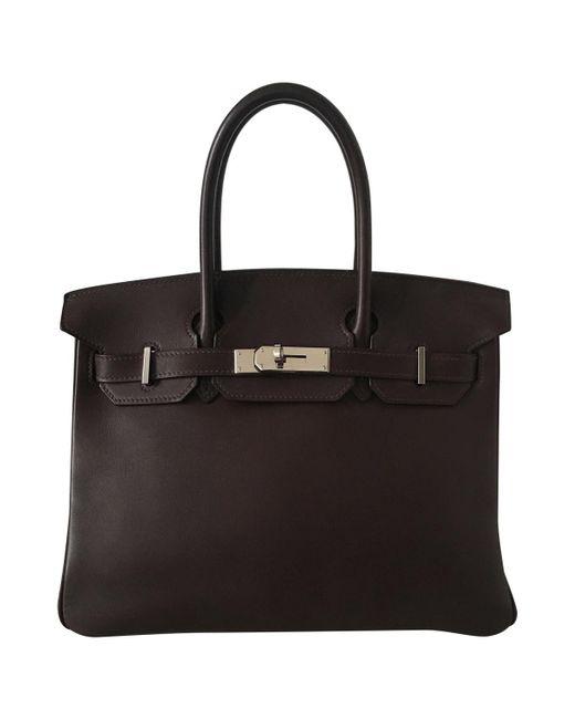 Hermès - Brown Pre-owned Birkin Leather Handbag - Lyst