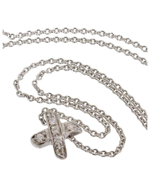 Tiffany & Co - White Gold Necklace - Lyst