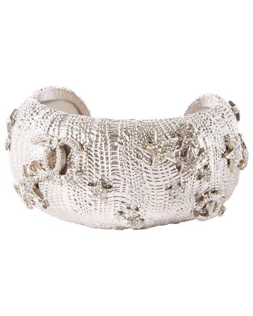 Chanel - Metallic Silver Metal Bracelets - Lyst