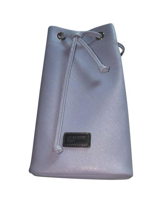 Jil Sander - Blue Leather Handbag - Lyst