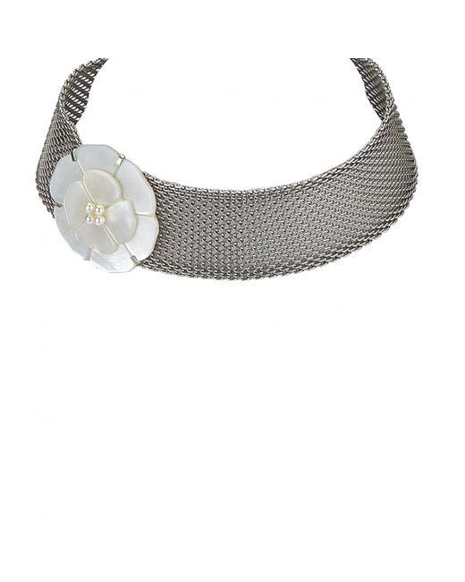 Chanel - Metallic Necklace - Lyst