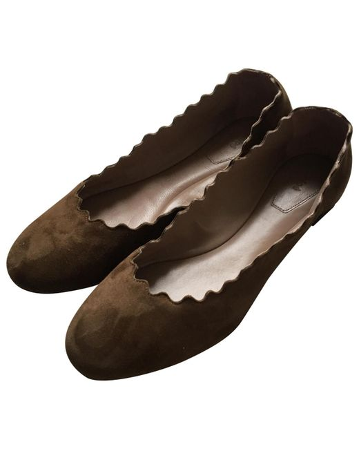 Chloé - Brown Pre-owned Ballet Flats - Lyst