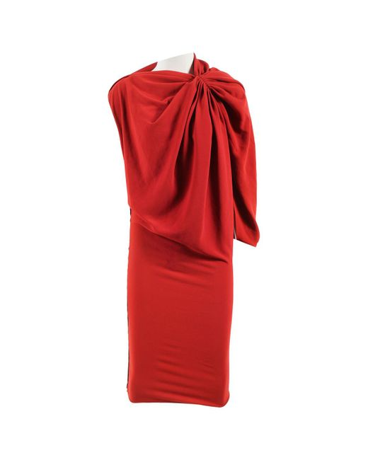 Lanvin - Red Pre-owned Dress - Lyst