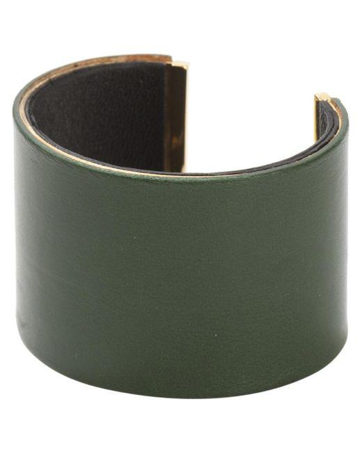 Céline | Pre-owned Green Leather Bracelet | Lyst