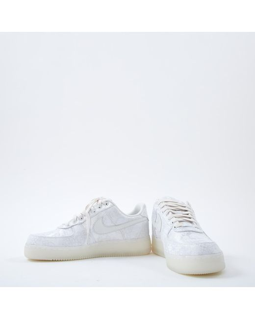 e82150ae620 ... Nike - Air Force 1 White Cloth Trainers - Lyst ...