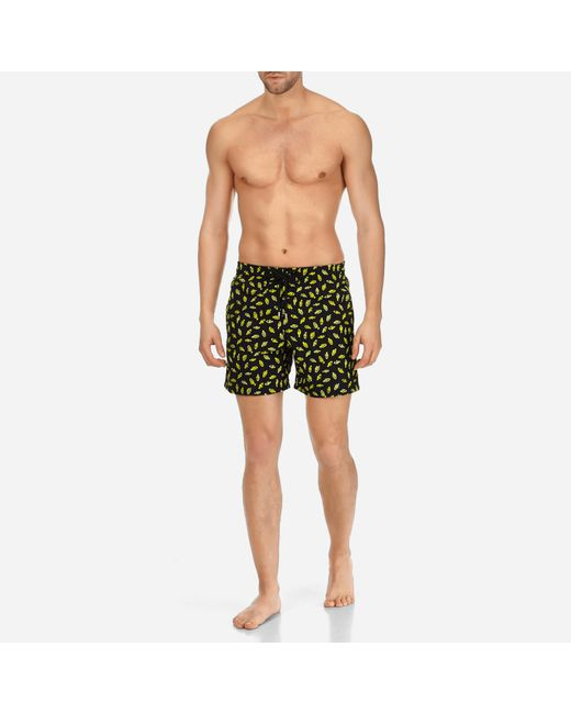 Vilebrequin - Black Men Swimtrunks Embroidered Mini Fish - Limited Edition for Men - Lyst