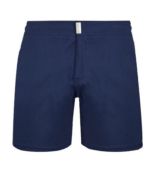 49c7f15fe5 ... Vilebrequin - Blue Men Flat Belt Stretch Swimtrunks Solid for Men - Lyst  ...