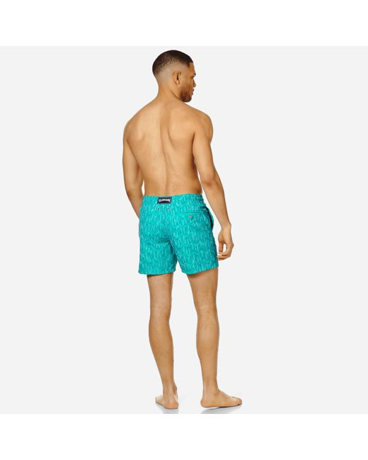 5ae77134fe9d2 ... Vilebrequin - Blue Men Swim Trunks Embroidered Armor Turtles - Limited  Edition for Men - Lyst ...