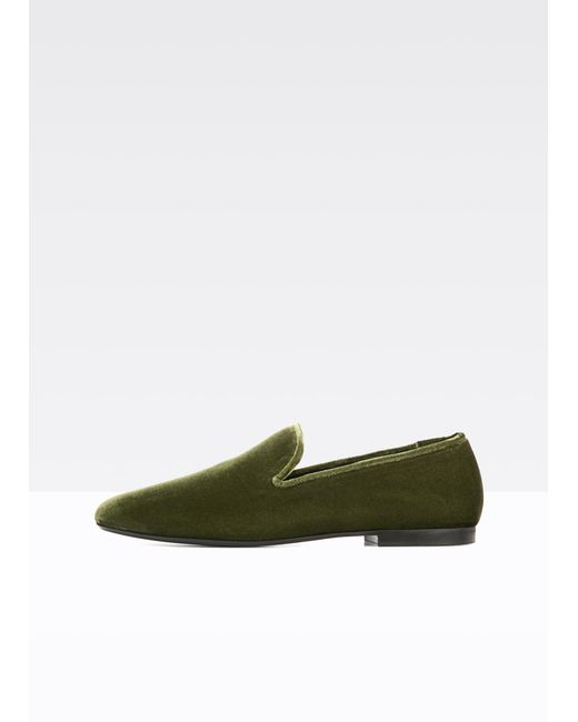 Vince | Green Bray Velvet Flat for Men | Lyst