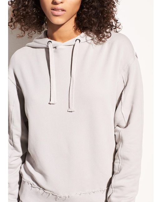 Vince | Multicolor Raw Edge French Terry Hoodie | Lyst