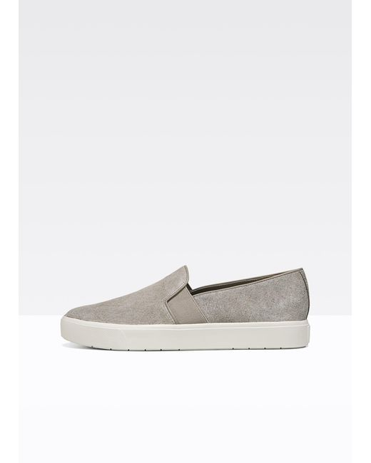 Vince - Gray Blair-12 Embossed Suede Sneakers - Lyst