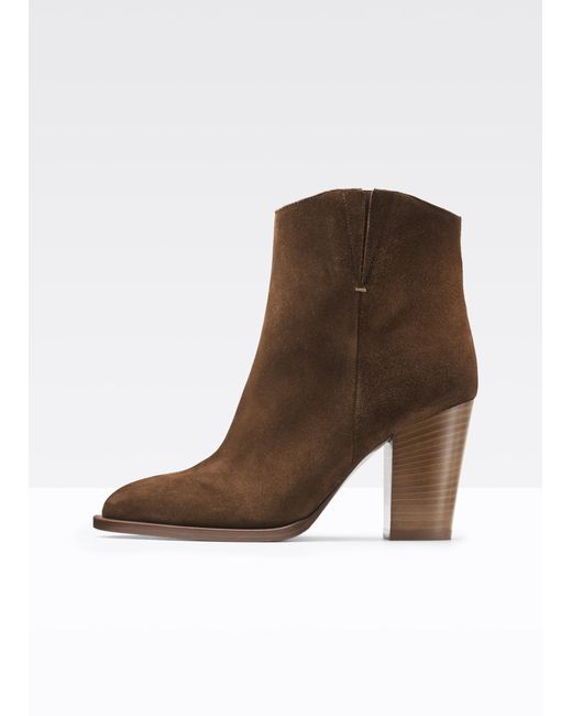 VINCE | Brown Erving Suede Ankle Boots | Lyst