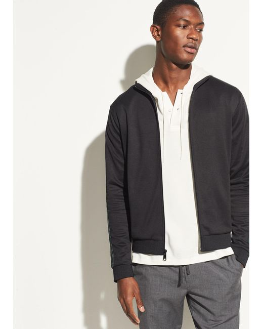 Vince - Black Track Jacket for Men - Lyst