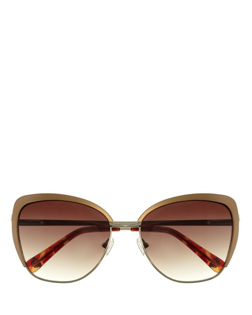 Vince Camuto | Brown Partial-frame Cat-eye Sunglasses | Lyst