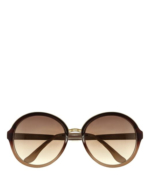 Vince Camuto | Brown Oversize Round Sunglasses | Lyst