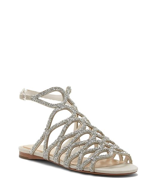 8ad7931179a Vince Camuto - Metallic Imagine Ralee – Embellished Cage Sandal - Lyst ...