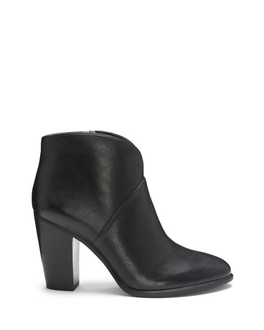 Vince Camuto - Black Franell – Notched Bootie - Lyst