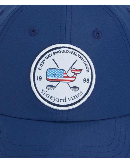 e1872c00915 ... Vineyard Vines - Blue Golf Patch Performance Baseball Hat for Men -  Lyst ...