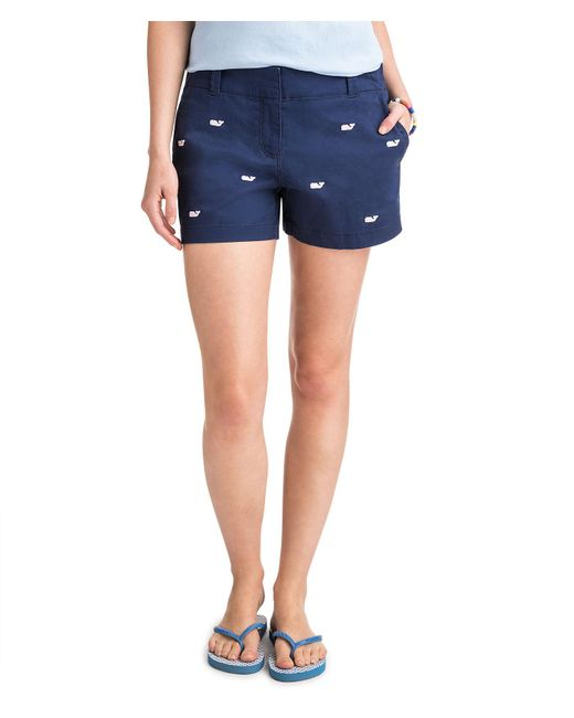 Vineyard Vines - Blue 3 1/2 Inch Whale Embroidered Every Day Shorts - Lyst