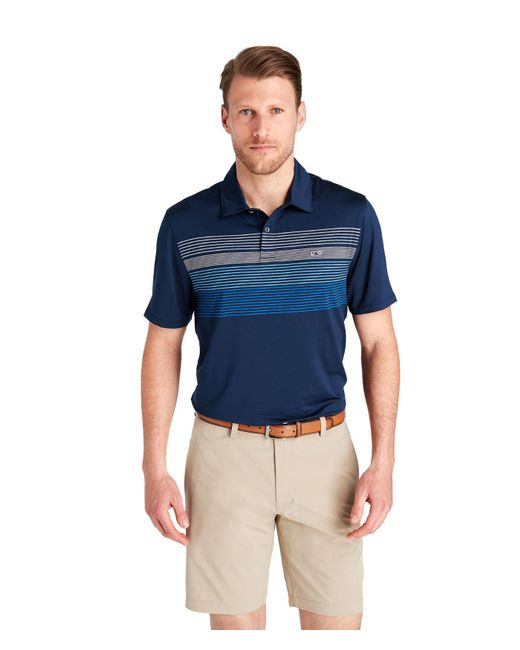 2faf1884fa Vineyard Vines - Blue Eagle Engineer Stripe Bowline Polo for Men - Lyst ...