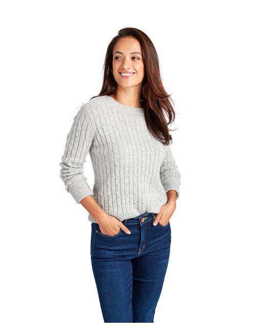 Vineyard Vines - Gray Plaited Cashmere Coral Lane Sweater - Lyst