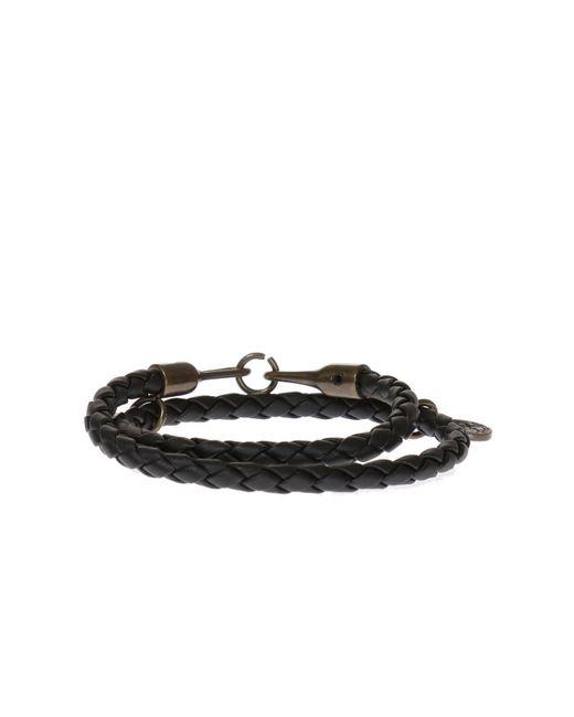 DIESEL - Black Double Braided Bracelet for Men - Lyst