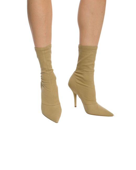 ce448b71d34 ... Yeezy - Natural Pointed Toe Heeled Boots - Lyst ...