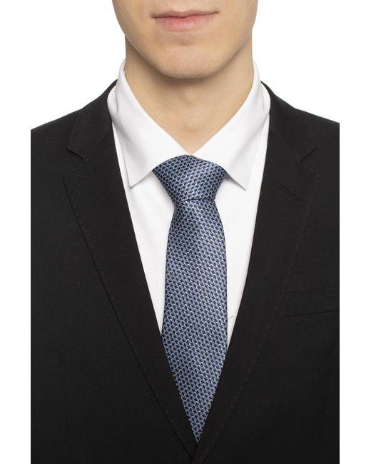 71fc4cdd750 ... Lanvin - Blue Geometric Pattern Silk Tie for Men - Lyst ...