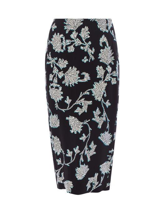 c48835945 Diane von Furstenberg Printed Pencil Skirt in Black - Save 76% - Lyst
