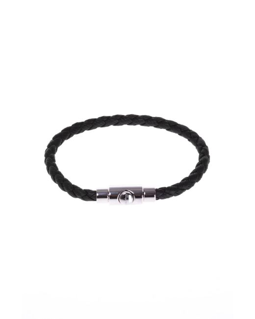 Ferragamo - Black Leather Bracelet for Men - Lyst