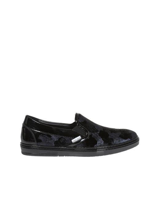 Jimmy Choo - Black 'grove' Slip-on Sneakers for Men - Lyst