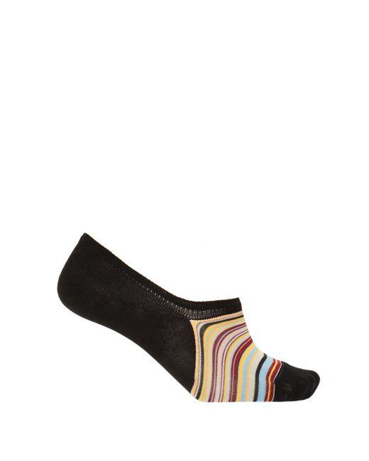 3220df69a76 Paul Smith - Black Jacquard No-show Socks for Men - Lyst ...