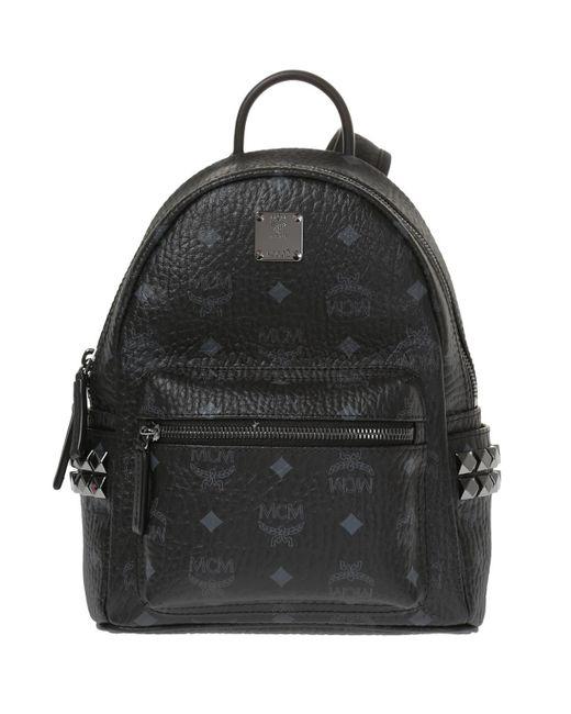 MCM - Black 'stark' Backpack for Men - Lyst