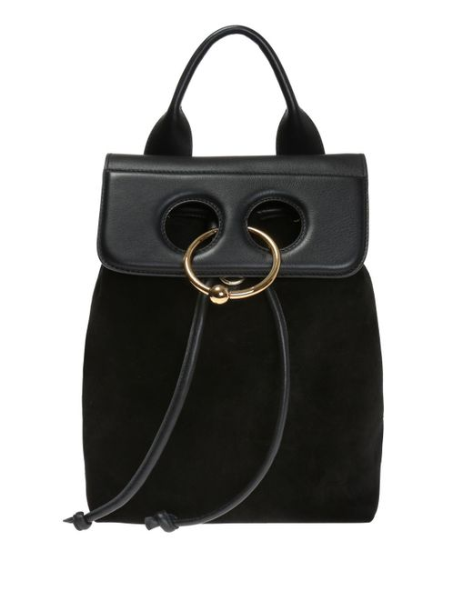 J.W. Anderson - Black Backpack With Ring - Lyst