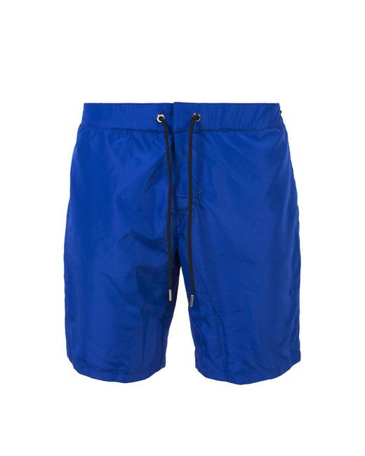 Versace - Blue Swim Shorts for Men - Lyst