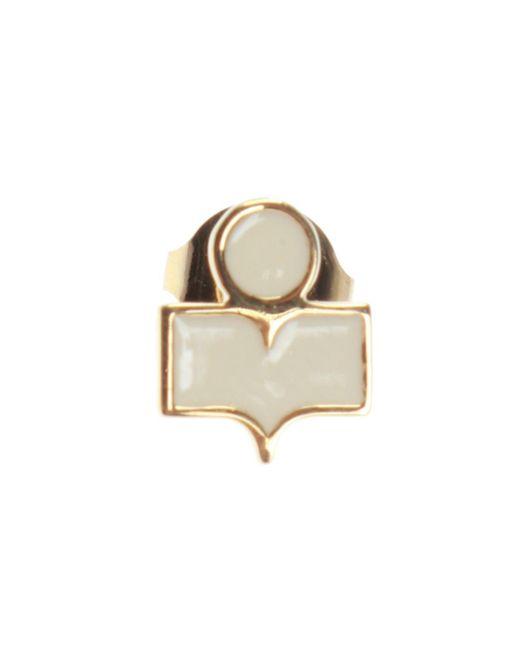 Isabel Marant - Metallic Logo-shaped Earrings - Lyst