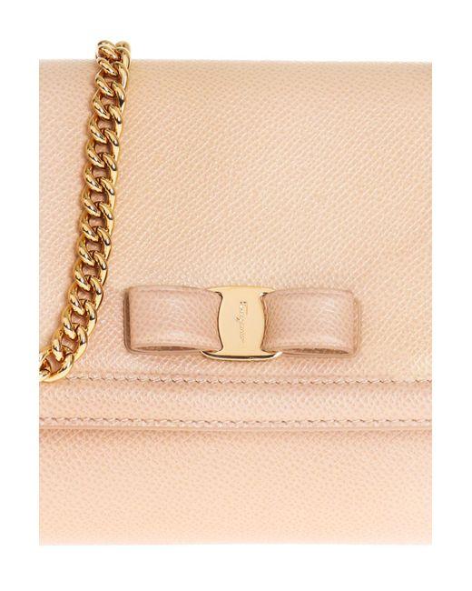 4981878131e9 ... Ferragamo - Natural  vara  Shoulder Bag - Lyst