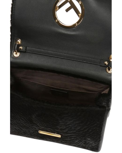 bf7a17377dac ... Lyst Fendi - Black  kan I F  Shoulder Bag ...