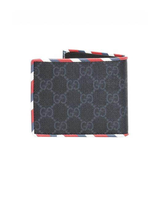 47fb2ce80e25 ... Lyst Gucci - Multicolor 'GG Supreme' Canvas Bi-fold Wallet for Men ...