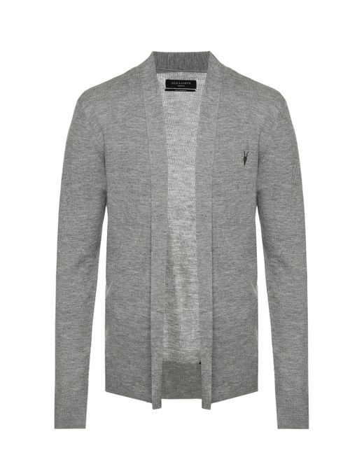 AllSaints - Gray 'mode' Ribbed Sweater for Men - Lyst